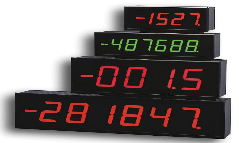 نمایشگر دما و زمان در ابعاد بزرگ